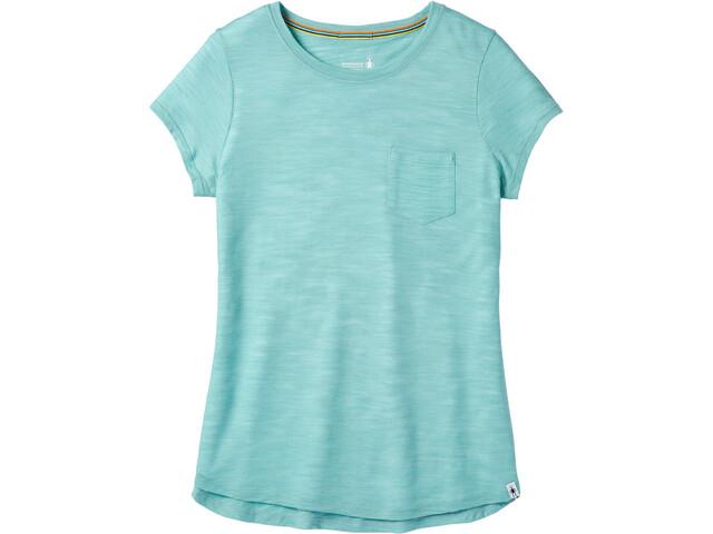 Smartwool Everyday Exploration Slub T-shirt Dames, nile blue